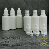 botol tetes 30 ml segel/botol tetes mata 30 ml/botol plastik 30 ml