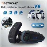 vnetphone V8 Bluetooth Helm Intercom With Remote Waterproof Original