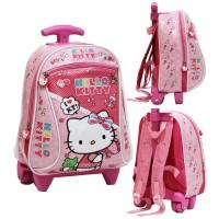 Tas Anak Sekolah PAUD Bahan Kain Sponge Tahan Air - Hello Kitty