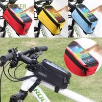 Tas Frame Depan Sepeda Warna Warni Bahan Nilon Anti Air