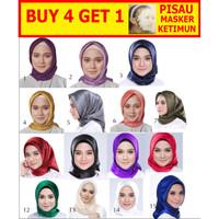 Jilbab Silk Segi Empat Polos HP001