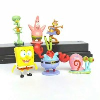 Action figure Spongebob Squarepants 6 pcs set / Topper kue Spongebob