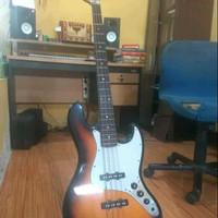 bass squire fender jazz bass affinity series murah