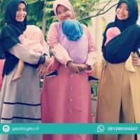 Gendongan Kaos Geos Instan 2 In 1 Baby Wrap - Baby Pink, Size S Best