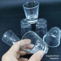 Gelas Sloki Kecil Kaca Mekar 5x5.5cm / gelas kecil mini Seloki