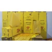 Safety Box 5 Liter (Tali + Inner plastik) / Tempat Sampah Medis