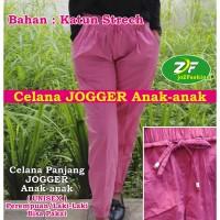 Celana JOGGER Panjang Cotton Stretch Anak Perempuan / Laki-laki Unisex