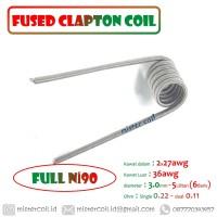 [ Fused Clapton Coil ] Authentic Nichrome 90 Ni90 | Bukan Alien Ni80