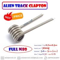 [ Alien Track Clapton ] Nichrome 80 |Wire Flat Fused Clapton Coil Ni80