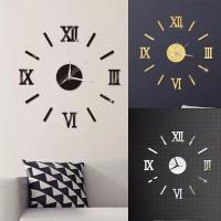 Jam Dinding Angka Romawi Tampilan 3D - DIY Acrylic Wall Clock