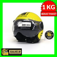 Helm Cargloss YR Protect Yellow Kuning (Half Face/Helm Retro/Classic)