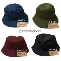 Topi Bucket - Bucket Hat polos High Quality