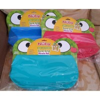 Nuby Frog Sil Placemate (blue, pink, and green)