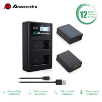 Powerextra Baterai 2-Pack Fujifilm NP-W126 and Smart Dual Charger LCD