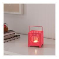 BEMANNA - lentera tempat lilin kecil tea light pot , merah muda pink