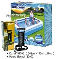 Bestway 54006 Kolam Renang Anak [262 x175 x51cm] / Kolam Anak + Pompa