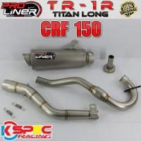 Proliner Crf 150L New Tr-1R Titan Long Knalpot Motor Racing