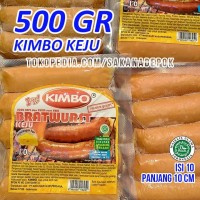KIMBO Sosis Sapi KEJU Mini Bratwurst Sosis Bakar Cheese Promo Grosir