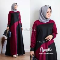 Gamis syari / Baju gamis wanita terbaru / Baju muslim wanita / Flouret