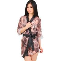 L-784 Transparent Tiger Woman Pattern Lingerie Kimono