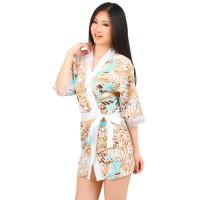 L-798 - Lingerie Cute Abstract Kimono
