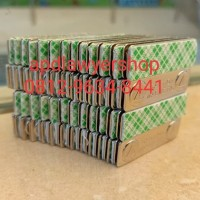 Magnet Papan Nama Dada Grade A strong 13mm x 45mm Coution Magnetic Nd