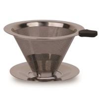 Latina W60-01 REW-1113 Flat Cone Metal Mesh Dripper - Saringan Kopi