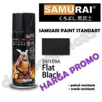 Samurai Paint 109A Black Doff/Hitam Doff Cat Semprot/Pylox/Helm/Motor