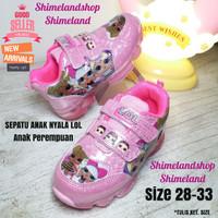 Sepatu Lampu Led Kado Sneakers Lol Nyala Anak Perempuan