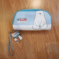 Kotak Pensil Ice Bear / Pencil Case We Bare Bears Bukan Miniso Japan