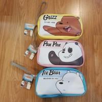 Kotak Pensil / Pencil Case / Pouch We Bare Bears Bukan Miniso Japan