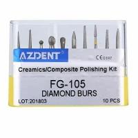 Azdent composite polishing diamond bur