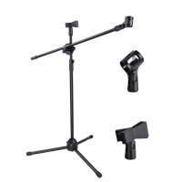 Stand Tiang Berdiri Holder Tripod & Smartphone Holder for Microphone