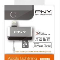RESTOCK PNY Lightning Micro SD Card Reader for iPhone iPad Diskon akse