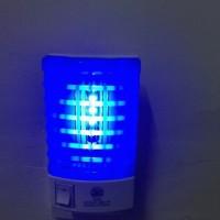 lampu setrum nyamuk led biru listrik tanpa aroma dan asap lampu pembun