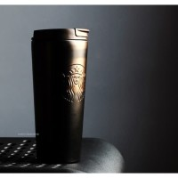 Starbucks Tumbler Siren Black Matte Troy Limited Rare Stainless