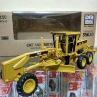 Diecast Motor Grader Cat 140H Miniatur greder alat berat Harga murah
