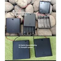 Tempat Baterai AA x4 Battery Holder Case Batere 4X AA Kotak Batre