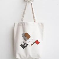 totebag webarebears wbb tas belanja lipat tas blacu kanvas recycle