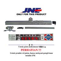 Rel Pintu geser / sliding 777 ukuran A6 / J6 untuk pintu max 150cm