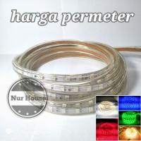lampu led strip meteran 5050 ac 220 v lampu selang dekorasi / etalase - Kuning