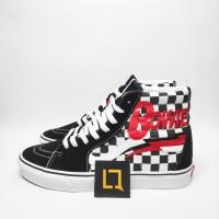 Vans x David Bowie Sk8-Hi Checkerboard Black White 2019 Original Rare