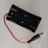 Battery Holder 2x18650 with DC Jack Connector Kotak Baterai 2x 18650