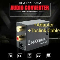 ♎📀Digital To Analog Stereo Audio Converter + Toslink & USB Cable