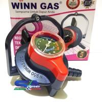 WINN GAS Regulator W 900 M METER Triple Lock/Tiga Pengunci Pengaman