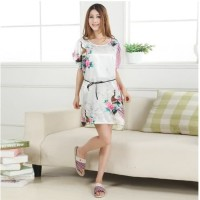 L-1466 - Lingerie Pajama Peacock Night Gown