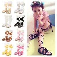 Fashion Anak Sepatu Sandal dengan Model Gladiator untuk Perempuan