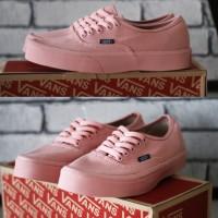Sepatu wanita vans authentic premium code DT full peach