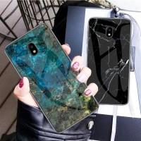 Marble Glass Case Samsung J7 Pro 2017 J730 J7Pro Back Cover Casing