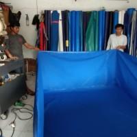kolam terpal/tarpaulin PVC semi karet 2x2x1